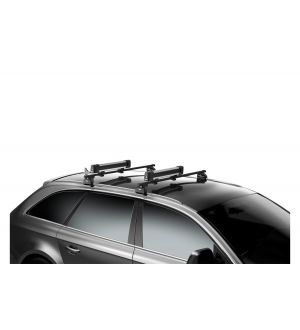 Thule SquareBar Adapter (Mounts Winter/Water Sport Racks to SquareBars) - Black