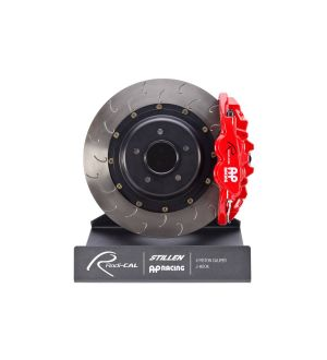 AP Racing Front Red 4 Piston Radi-CAL Brake Kit System, J-Hook Rotors (355x32mm) by STILLEN - 2015+ WRX / 2015+ STI