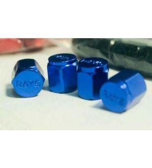 Volk Racing Rays Valve Stem Caps Blue