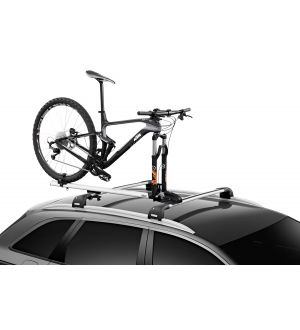 Thule ThruRide Fork-Mount Bike Rack (for 12-20mm Thru-Axles/No Adapters Required) - Silver/Black