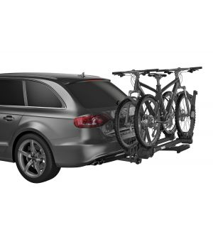 Thule T2 Pro XT 2 - Platform Hitch-Mount Bike Rack (1.25in. Hitch Recv./Fits 2 Bikes) - Silver/Black