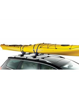 Thule Top Deck Kayak Carrier w/Tie Downs (Fits 1 Kayak up to 36in. Wide/75lbs.) - Black