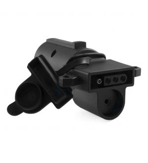 Curt Adapter w/Backup Alarm (7-Way RV Blade Vehicle to 4-Way Flat Trailer)