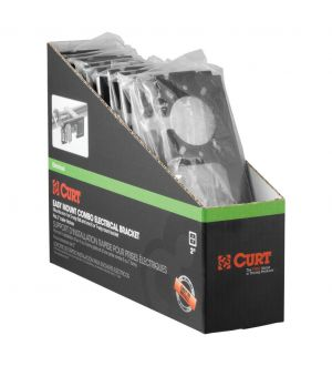 Curt Easy-Mount Brackets for 4 or 5-Flat & 6 or 7-Round (2in Receiver 10-Pack)
