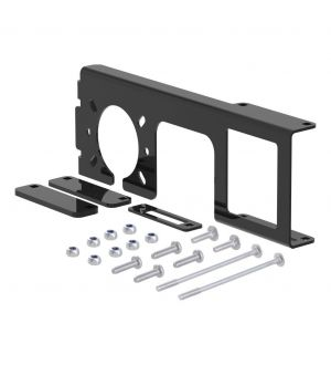 Curt Easy-Mount Bracket for 4 or 5-Flat & 6 or 7-Round (2in Receiver Packaged)