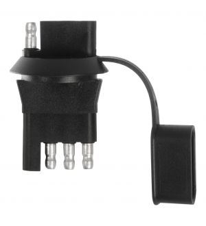Curt 4-Way Flat License Plate Light Plug Adapter