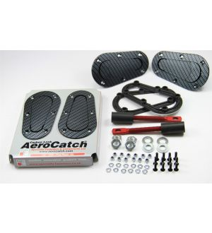 Aerocatch Hood Pins Non-Locking Carbon Look