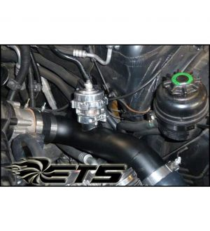 ETS Charge Pipe Upgrade - N54 (Twin Turbo) - TiAL BOV Flange - Wrinkle Black BMW 135i/335i