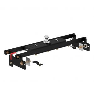 Curt 07-18 GMC Sierra 1500 Classic Double Lock Gooseneck Hitch Kit w/Installation Brackets