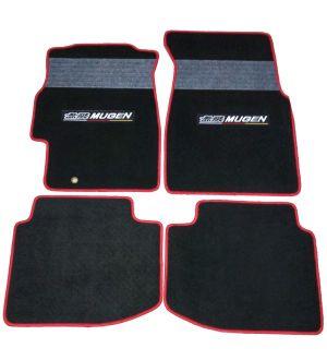Ikon Motorsports 96-00 Civic 2Dr 3Dr 4Dr OEM Factory Fitment Car Floor Mat Black With Gray Stripe