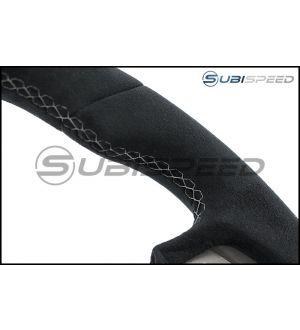 STI JDM S207 / WRX S4 tS Challenge Package Style Ultrasuede Steering Wheel - 2015+ WRX / 2015+ STI