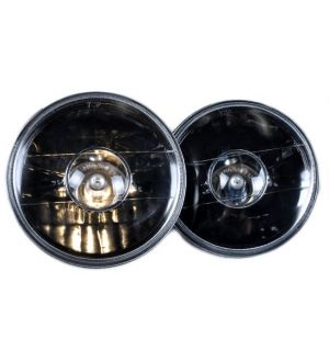 Ikon Motorsports Fit For 7 Inch Round Black With Projector Replacement Head Lamps Mazda