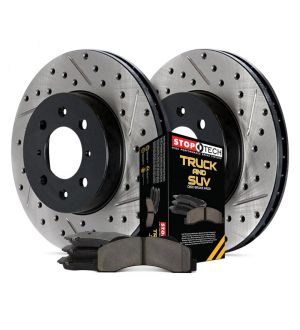 StopTech Truck Axle Pack Drilled and Slotted, Front Brake Kit -   - 971.65102