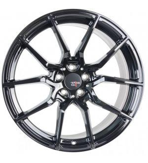 Option Lab R716 18x9.5 +35 5x114.3 Gotham Black Wheel