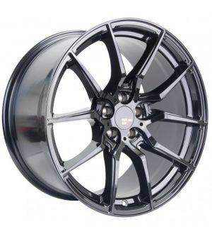Option Lab R716 18x9.5 +35 5x100 Gotham Black Wheel
