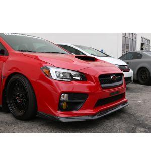 Ikon Motorsports 2015-2016 Subaru WRX STI 4Dr VR Style Carbon Fiber Front Bumper Lip