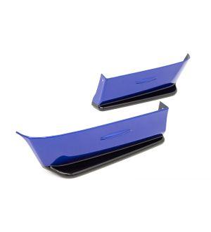 OLM PAINT MATCHED GLOSS BLACK REAR BUMPER LIP 2015-2020 Subaru WRX & STI - Ice Silver Metallic / Steel (G1U)