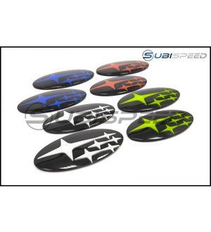 GCS Front and Rear Gloss Black Subaru Emblem Kit - 2015+ WRX / 2015+ STI