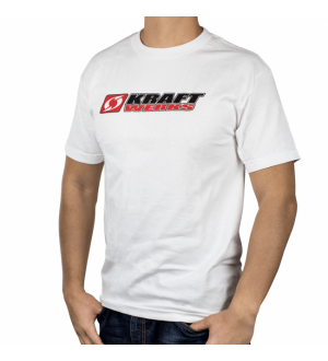 Kraftwerks T-Shirt - Stacked Kraftwerks Logo - XL White
