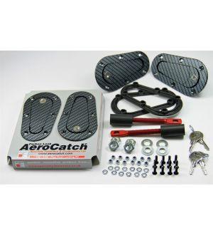 Aerocatch Hood Pins Locking Carbon Look