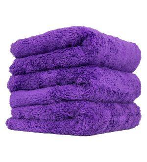 Chemical Guys Happy Ending Ultra Edgeless Microfiber Towel - 16in x 16in - Purple - 3 Pack (P16)
