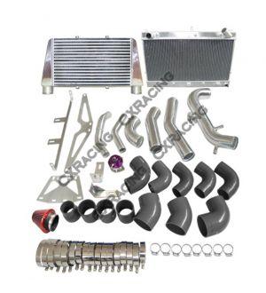 CX Racing Turbo Intake Filter BOV Kit For Z31 300ZX VG30ET V-Mount +CXRacing V-Mount Intercooler + Radiator + Turbo Intake Kit for 83-89 Z31 300ZX VG30ET  2.5