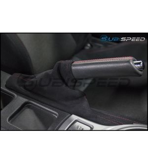 JDM Station Alcantara Style eBrake Boot with Red Stitching - 2013+ BRZ