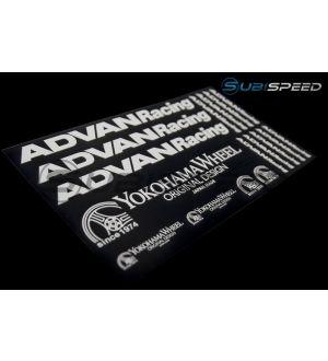 Advan Racing Sticker Sheet - Universal