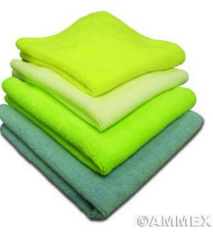 Ammex Microfiber Blue Towels