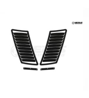Verus Engineering Hood Louver Kit (Non-GT Hood Spec) - S550 Mustang - Black