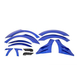 OLM S209 STYLE PAINT MATCHED FENDER FLARE (12PC SET) 2018-2021 Subaru WRX & STI  - WR Blue Pearl (K7X)