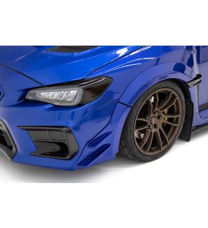 OLM S209 STYLE PAINT MATCHED FENDER FLARE (12PC SET) 2018-2021 Subaru WRX & STI  - Ice Silver Metallic / Steel (G1U)