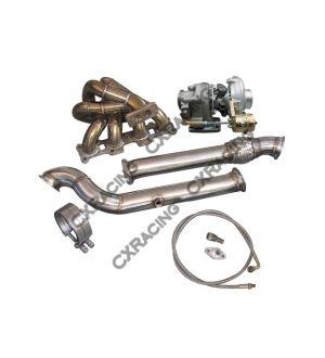 CX Racing Turbo Manifold DownPipe Kit For Mazda Miata MX-5 1.8L NA-T T3 Top Mount