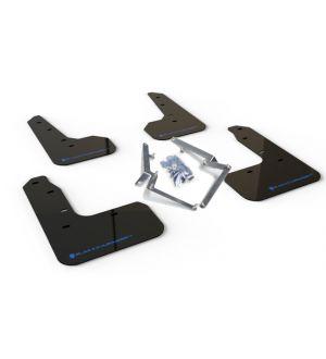 Rally Armor 17-19 Honda Civic Sport Touring UR Black Mud Flap w/ Blue Logo