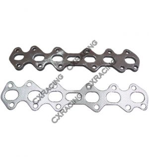 CX Racing Exhaust Manifold Steel flange + Gasket For Supra 2JZGTE 2JZ-GTE