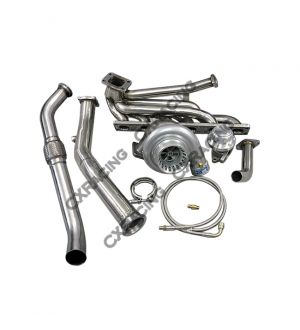 CX Racing Top Mount T3 GT35 Turbo Kit Manifold Downpipe For 92-98 BMW E36 325i 328i