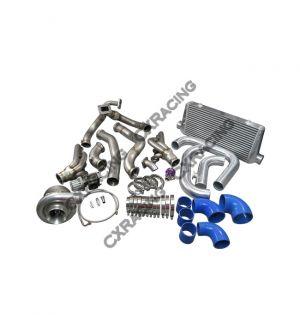 CX Racing T76 Turbo Manifold Header Downpipe Intercooler Piping Kit For 98-02 Chevrolet Camaro LS1