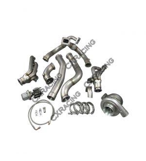 CX Racing T76 Turbo Manifold Header Downpipe Wastegate Kit For 98-02 Chevrolet Camaro LS1 Motor NA-T
