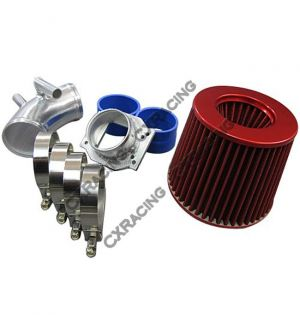 CX Racing Cold Air Intake pipe kit + MAF Flange + Filter BMW E30 325i 325ix