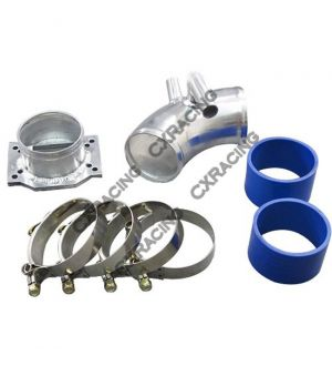 CX Racing Intake Piping MAF Flange + Air Intake pipe kit For BMW E30