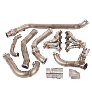 CX Racing Single Turbo Header Manifold Downpipe Wastegate Kit for 68-72 Chevelle LS1 LSx