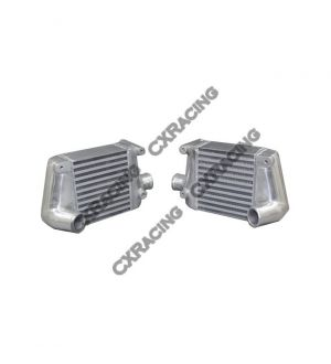 CX Racing Twin Turbo Intercooler For 1990-1996 Nissan 300ZX Aluminum Side Mount