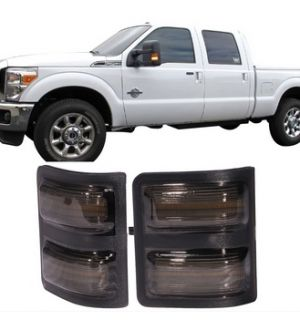 Ikon Motorsports 08-16 Ford F250 F350 F450 Super Duty Towing Mirrors Side LED Lights