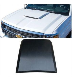 Ikon Motorsports 14-15 Chevy Silverado 1500 PUR Hood Scoop Vent Bonnet Cover