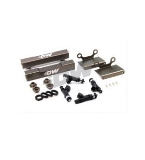 DeatschWerks  Subaru side feed to top feed fuel rail conversion kit and 1000cc fuel injectors for 04-06 STI and Legacy GT - 6-101-1000