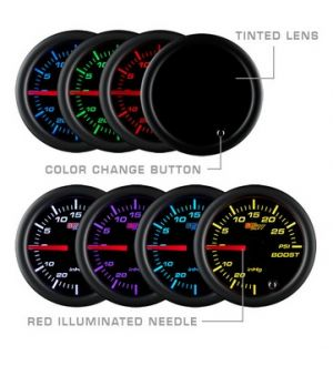 Glowshift Tinted 7 Color Volt Gauge