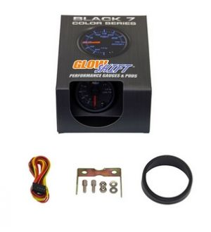Glowshift Black 7 Color Volt Gauge
