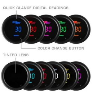 Glowshift 10 Color Digital Tachometer Gauge