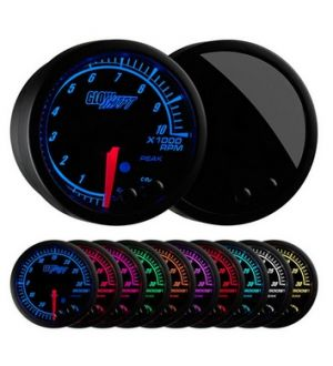 Glowshift Elite 10 Color Tachometer Gauge