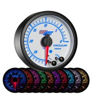 Glowshift White Elite 10 Color Vacuum Gauge
